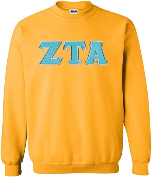 Black-Size Medium-New! Zeta Tau Alpha ZTA Sorority Crewneck Sweatshirt