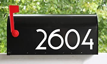 Elegant Mailbox Sticker Mailbox Numbers Custom Mailbox Stickers Numbers /& Street