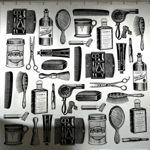 Amazon.com: Izola Shower Curtain, Barbershop Pattern: Home & Kitchen