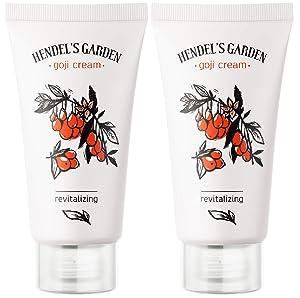 Hendel's Garden Goji Cream Original 50 ml 2 Pack, Rejuvenating Hydrating Face Moisturizer for Younger Skin, Revitalized Radiance - Smoothing, Firming Anti Aging Day, Night Vitamin C