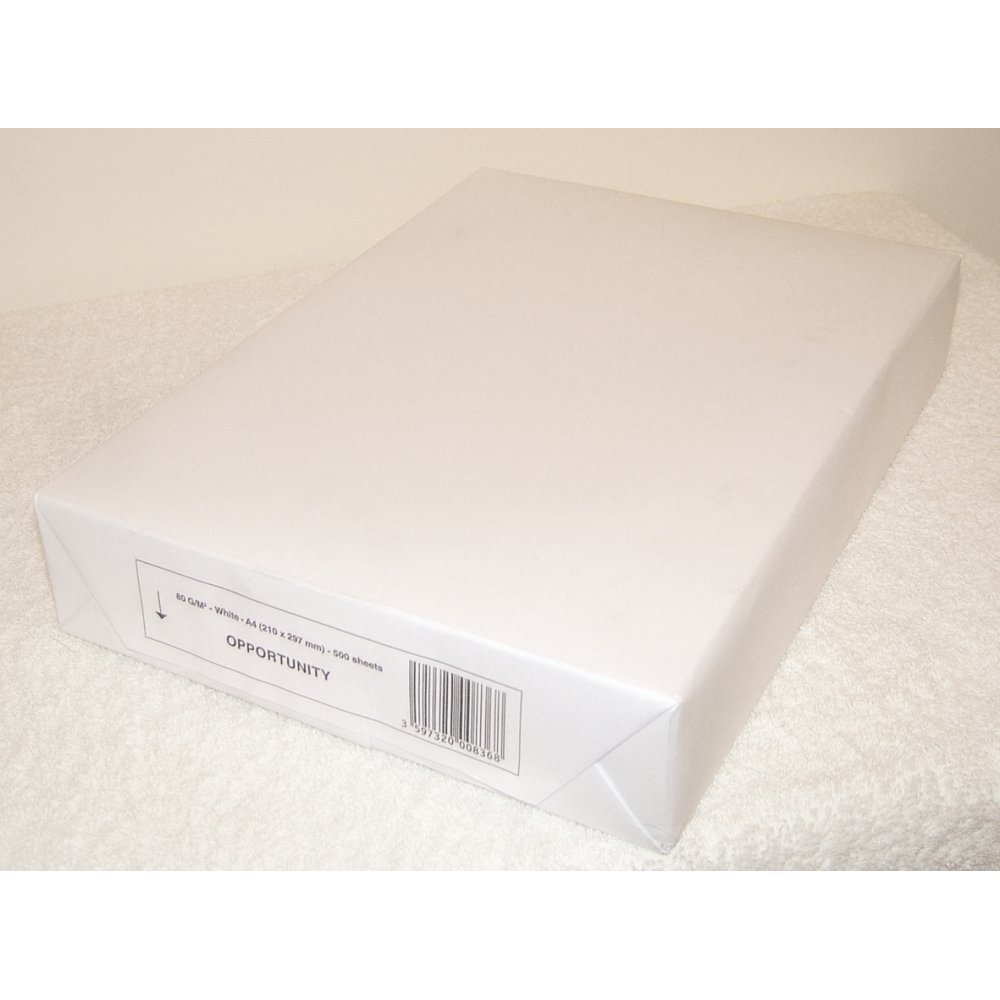 1 resma A4, 75 g/m², Value Blanco Impresora fotocopiadora ...