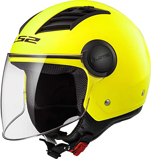 CASCO LS2 JET DEMIJET FF562 AIRFLOW NERO OPACO INTERNO ESTRAIBILE MOTO E SCOOTER