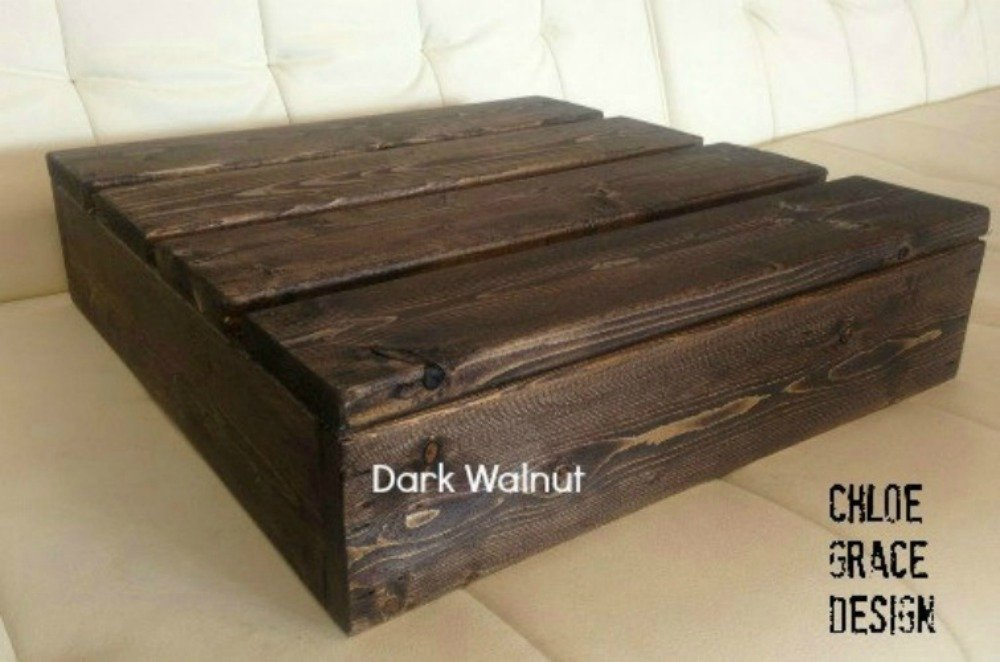 12x12 Inch Square Wood Cake Stand DARK WALNUT wood cake stand, country cake stand,rustic cake stand, country wedding decor, square cake stand