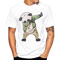 LOOKATOOL Men Boy Plus Size Shoes Print Tees Short Sleeve Cotton T Shirt Blouse Tops