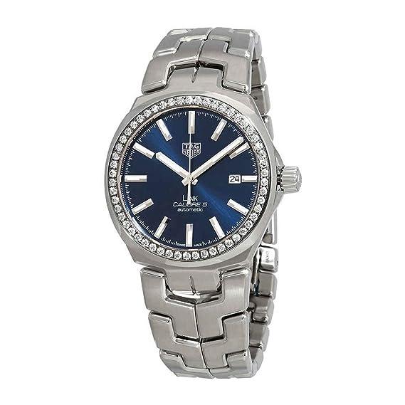 7898ea1d7a7 Tag Heuer Link Caliber 5 Automatic Diamond Men s Watch WBC2113.BA0603   Amazon.ca  Watches