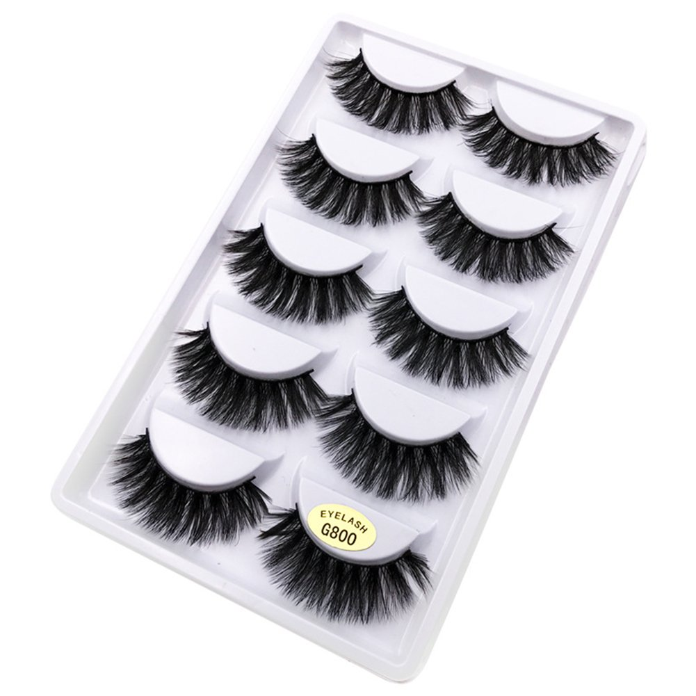 Oce180anYLV Wimpern Verdickung Falsche Wimpern 1,4 cm 5 Pair 3D Natural Long Thick Mink False Eyelashes Extension Makeup Beauty Tools G800