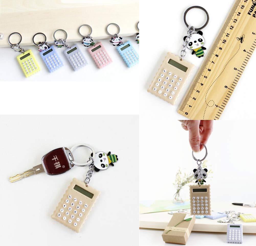 Portachiavi Creative Panda Cute A4 Mini Calcolatrice