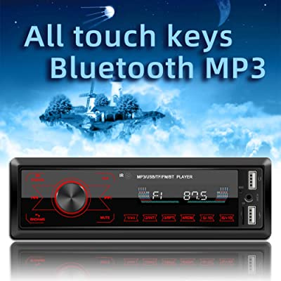 Single Din Car Stereo with Bluetooth,WZTO Car Stereo Radio Receiver,Multicolor Backlight, 1 Din FM Car Radio Touch Screen MP3 Player Support USB, SD Card,AUX in, with Wireless Remote Control(12V): Home Audio & Theater