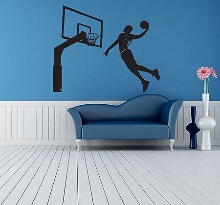 Inspiración Pared Adhesivo baloncesto deporte extraíble pegatinas ...