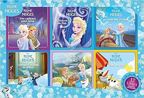 Livre Coloriage Reine Des Neiges.Amazon Fr La Reine Des Neiges 12 Livres 6 Histoires 6