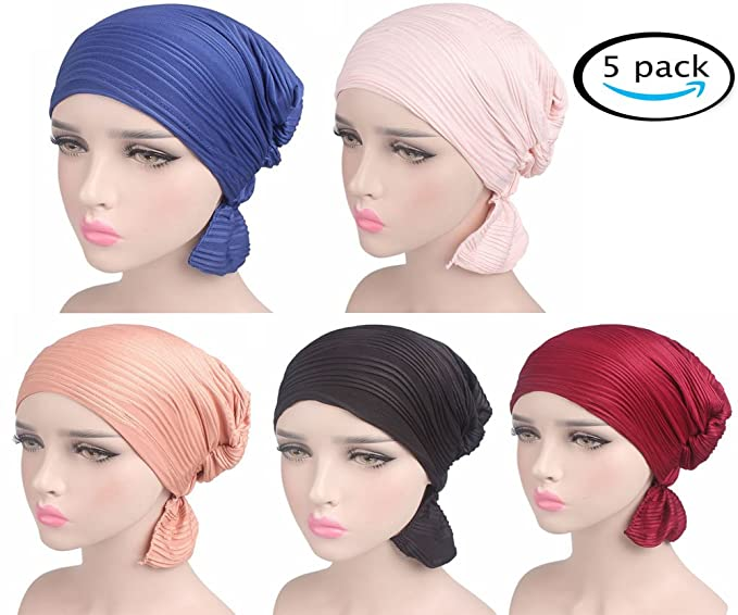 Image Unavailable. Image not available for. Color  Chemo Caps For Women  Cancer Hats Beanie TURBANS ... c4a466dd03af