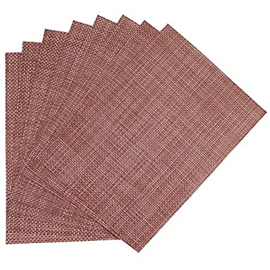 Benson Mills Longport Woven Vinyl Placemat, Terracotta, Set of 8