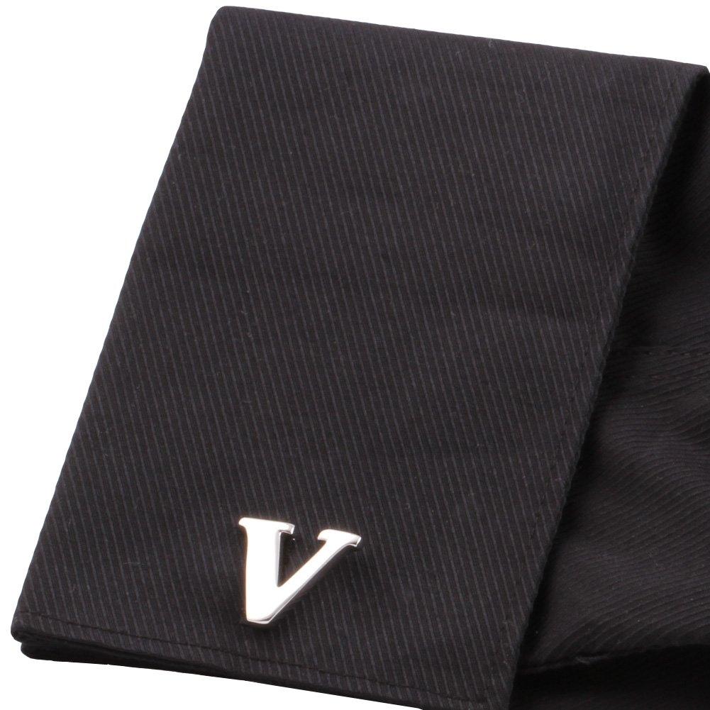 H/&H Mens Shirts Cufflinks Alphabet Letter