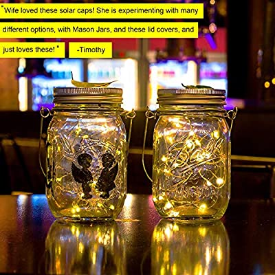 ZNYCYE Solar Mason Jar Lights, 12 Pack 30 Led String Fairy Star Firefly Jar Lids Lights, (Jars Not Included), Best for Mason Jar Decor, Great Outdoor Lawn Decor for Patio Garden, Yard and Lawn. : Garden & Outdoor
