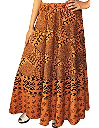 Long Indian Skirt Printed Womens Maxi Cotton India Clothes