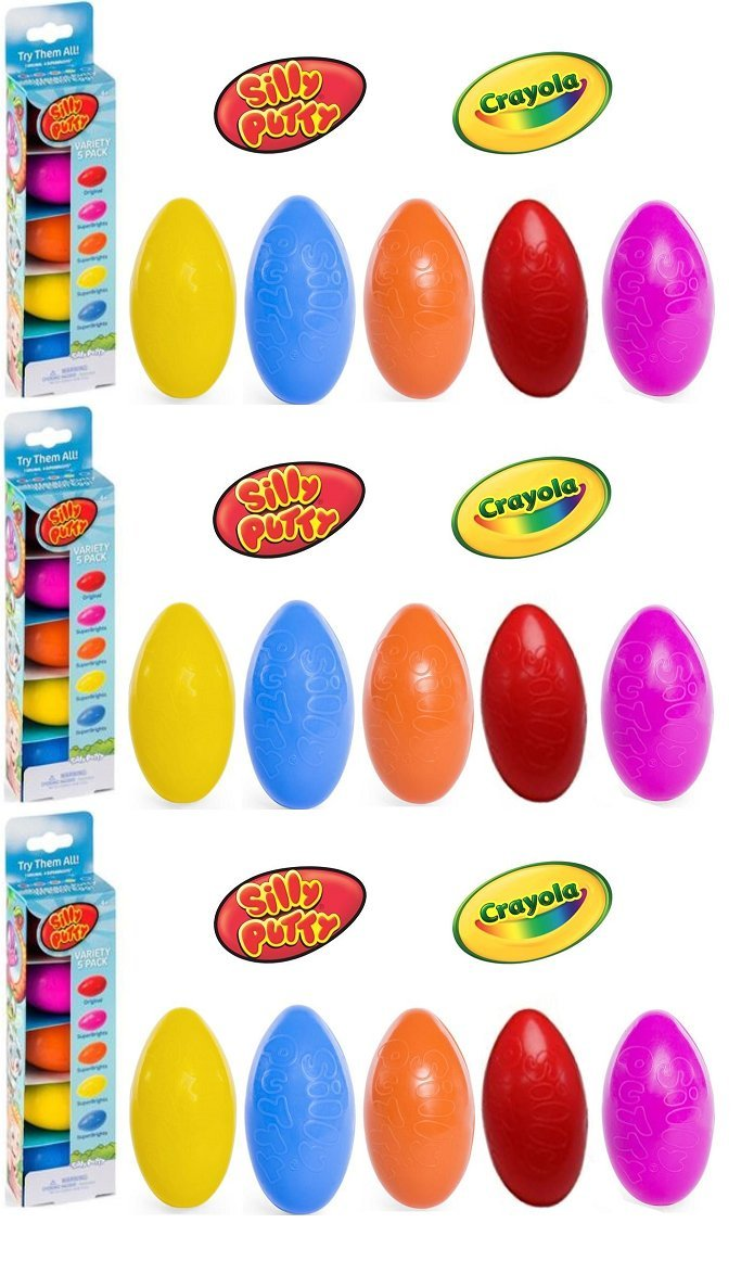 Crayola Silly Putty Eggs Party Pack 5 ct