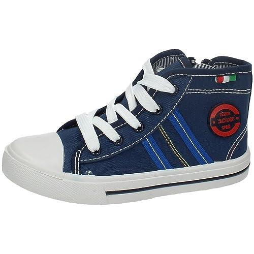 DEMAX 5-K2784-18 Botines Bambas Lona NIÑO Zapatillas Azul 30