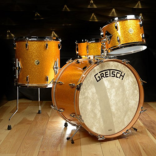 Gretsch USA Custom Broadkaster 12/14/20/5.5x14 4pc Drum Kit Gold Sparkle