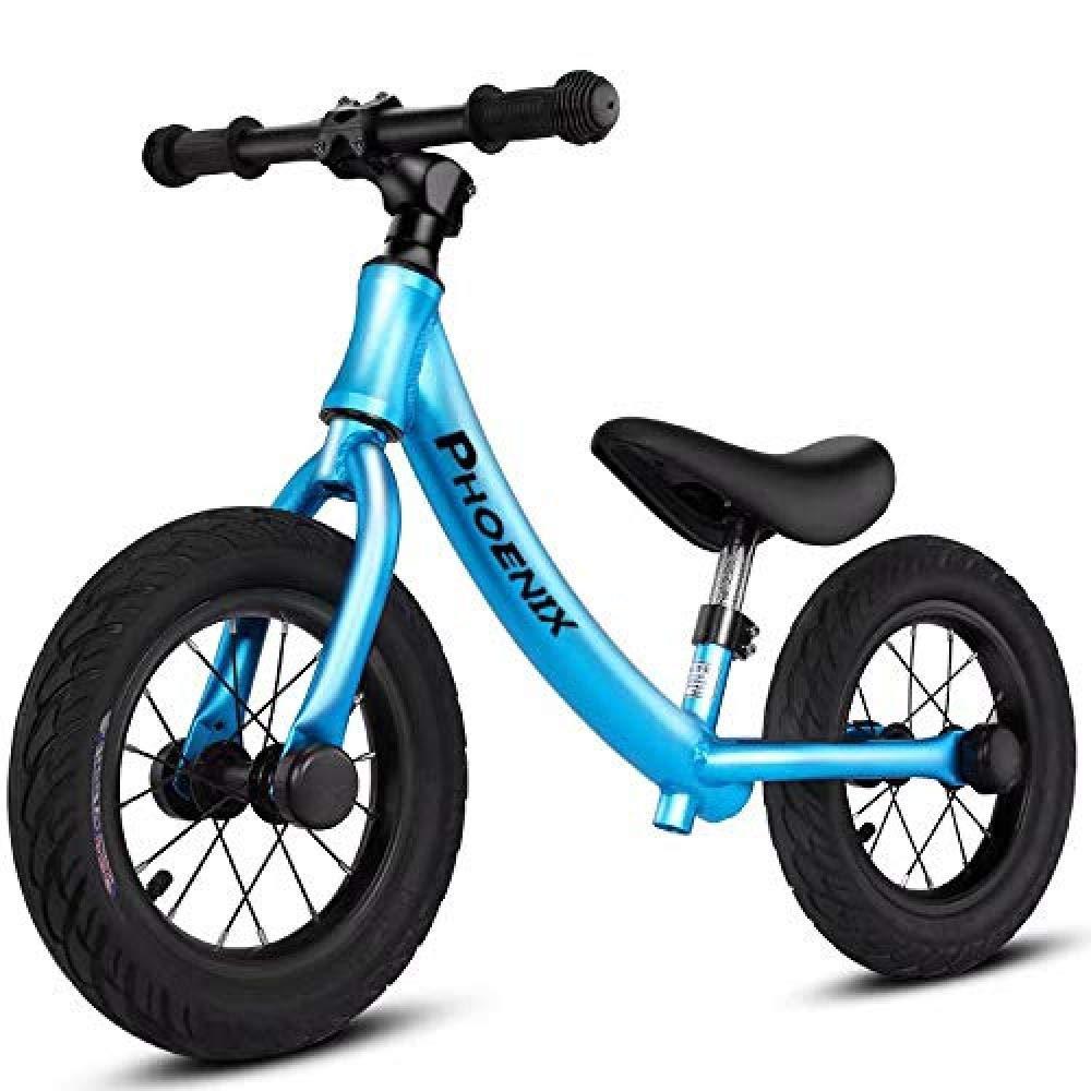 azul PIAOL 2-3 No Pedalear En Bicicleta Scooter para Niños 4-5-6 Años Deslizándose En Bicicleta Equilibrada Niño Equilibrio Coche,negro
