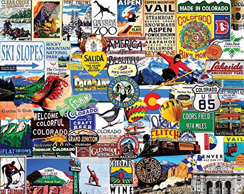 (White Mountain Puzzles I Love Colorado - 1000 Piece Jigsaw Puzzle)