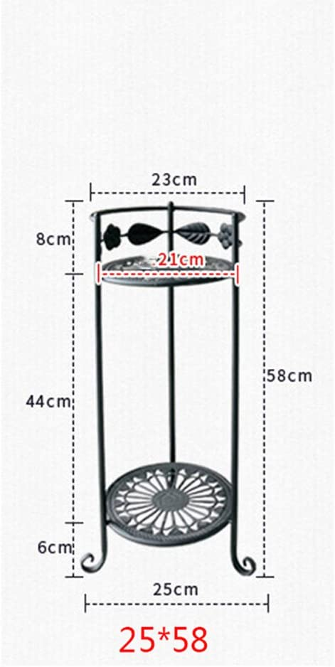 AIDELAI soporte de flores de hierro, para suelo, estilo de balcón ...