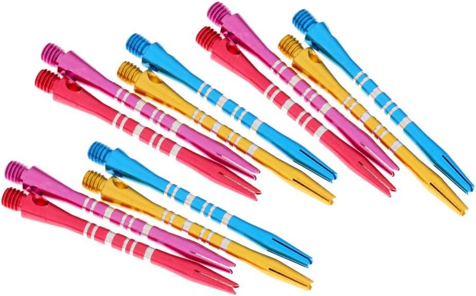 MagiDeal 12 x 52mm 2BA Porte-empennages Barres Tiges de Fl/échettes Ray/ées en Alliage /Équipement Jeu de Fl/échettes