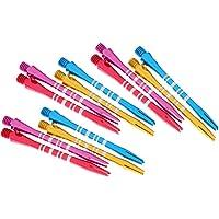 HOMYL 12 pcs 52mm Mixed Color Aluminum Darts Shafts / Standard Dart Stems - 4 Colors