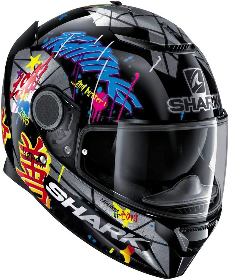 Shark Unisex-Adult Full Face Helmet (Lorenzo Catalunya Gp Replica Graphics, M - 57-58 cm - 22.4-22.8'')