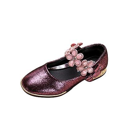 a25691ef7d0171 YIBLBOX Neueste Design Prinzessin Schuhe Kristall Schuhe Mädchen Ballerina  Schuhe Pailletten Festlich für Kinder