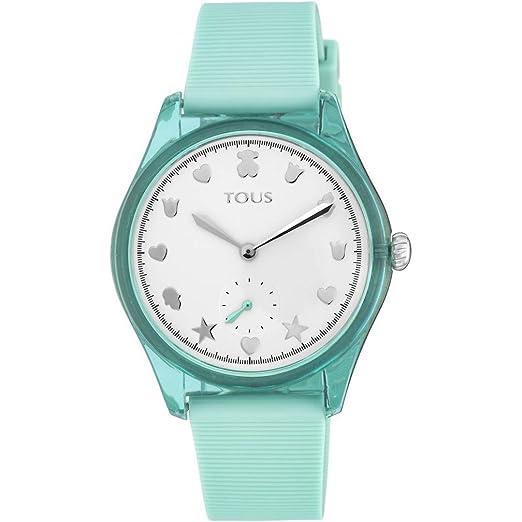 Reloj Tous 900350065 Free Fresh de Acero y policarbonato con Correa de Silicona Menta: Amazon.es: Relojes