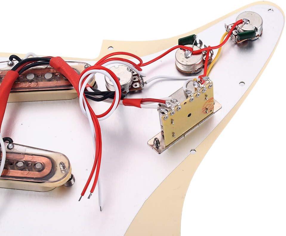 Cubeplug/™ Prewired Loaded SSS Guitar Pickguard Alnico V Pickups for Fender Strat Guitar