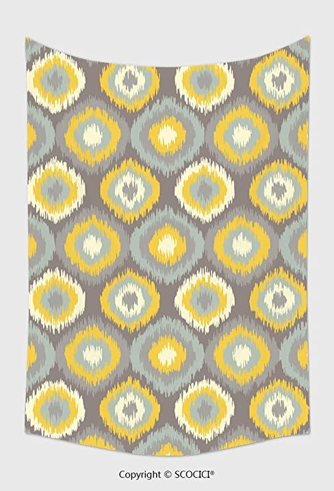 Home Decor Tapestry Wall Hanging Ethnic Boho Seamless Pattern Ikat Print Repeating Background Cloth Design Wallpaper