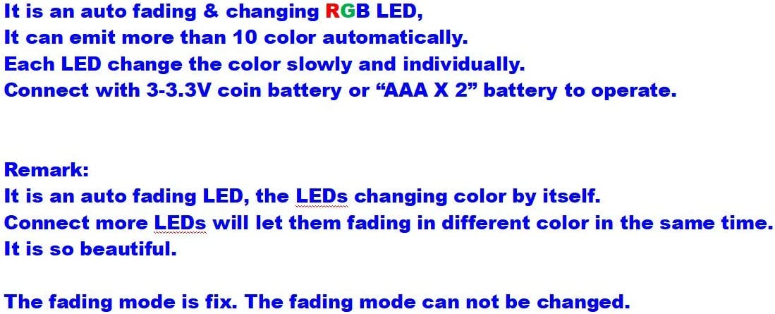 Muti-Resistor New 100pcs Pre-soldered Micro Litz Wired Leads Rainbow Color Fade Mode SMD Led 0603