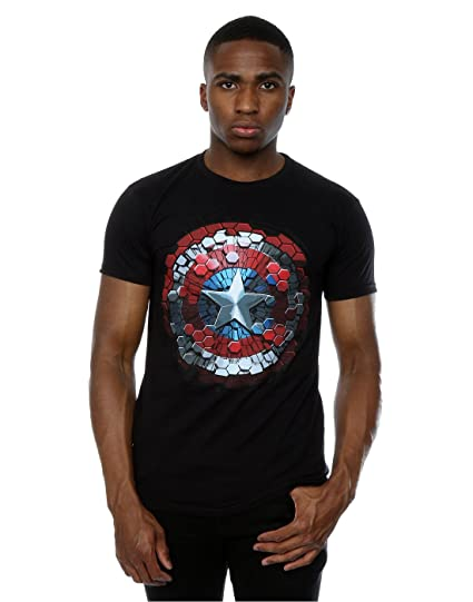 Mens Captain America Civil War Hex Shield T-Shirt MARVEL Huge Range Of Newest Cheap Online Discount Countdown Package Cheap Sale Inexpensive snytfgln6