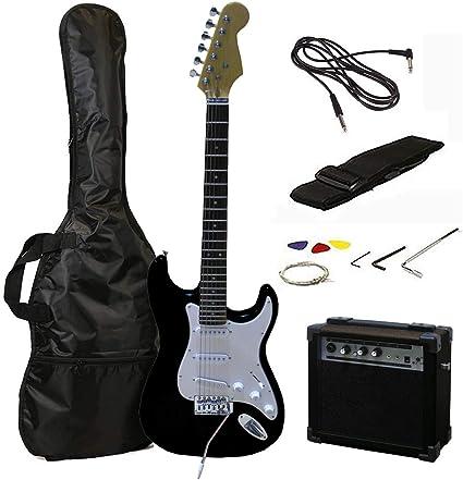 Tamaño RockJam eléctrica llena Superkit guitarra con amplificador ...