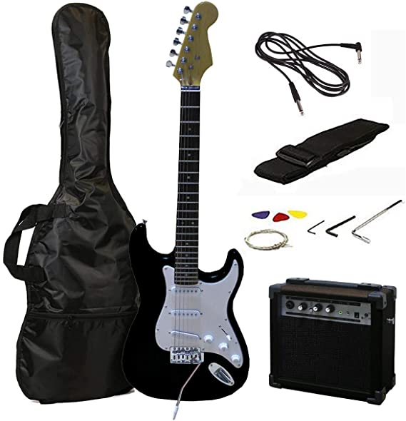 RockJam 6 ST Style Electric Guitar Super Pack with Amp