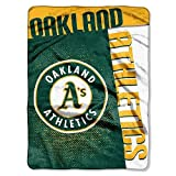 Oakland Athletics 60x80 Royal Plush Raschel Throw Blanket - Strike Design - Licensed MLB Baseball Merchandise
