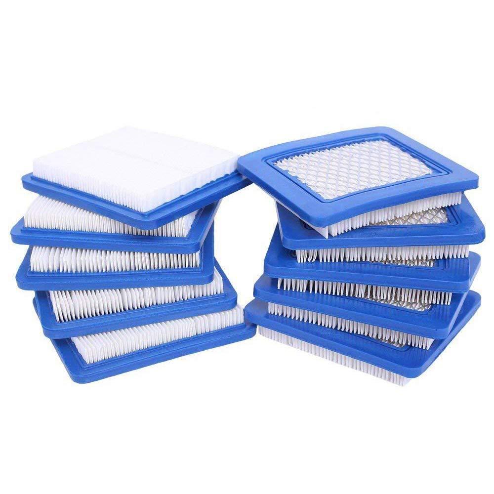 HEYZLASS 10 Pack 491588S Air Filter, Replace for Briggs Stratton 491588 4915885 Flat OEM Air Cleaner Cartridge, Lawn Mower Air Filter by HEYZLASS