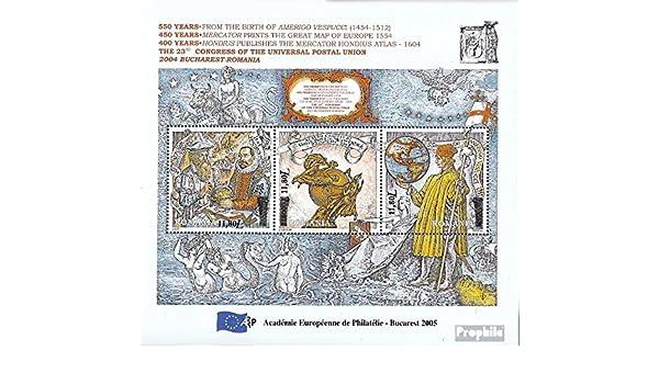 Prophila Collection Rumania Block362 (Completa.edición.) 2005 Europeos Academia para filatelia (Sellos para los coleccionistas): Amazon.es: Juguetes y juegos