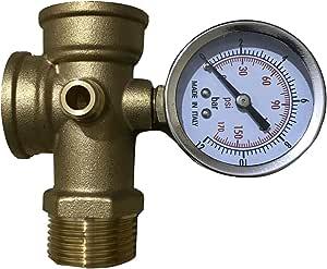 مقياس ضغط ميكانيكي للغاز والمياه 7 بار من جينيريك