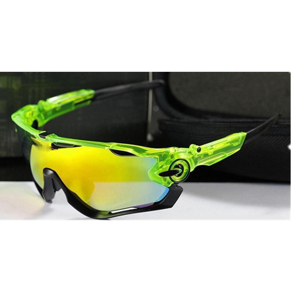 DZW Polarisierte Sonnenbrille im Freien reiten Brille Jawbreaker Männer und Frauen Brillen , bright surface transparent schwarz - schwarz foot - ROT