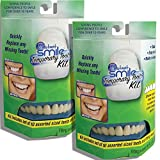 (Set/2) Instant Smile Temporary Tooth Kit w/10 Upper Teeth Confident Smile