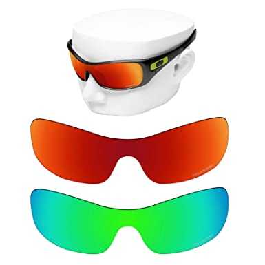 299dd95a8a OOWLIT 2 Pair Replacement Sunglass Lenses compatible with Oakley Antix  POLARIZED
