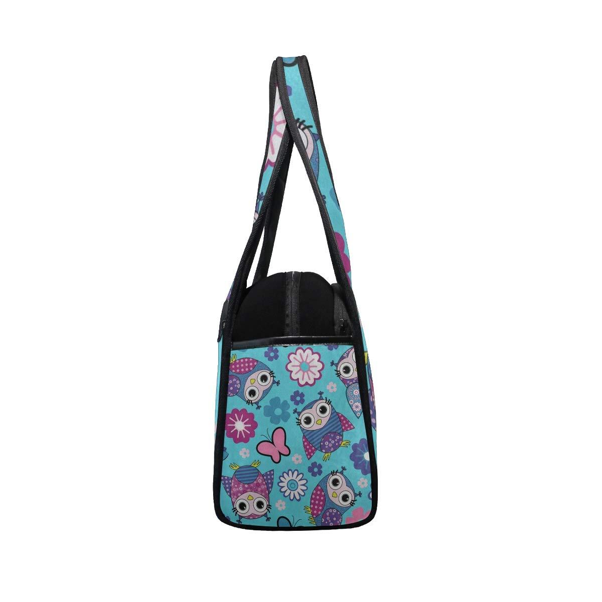 Gym Bag Cute Animal Owl Floral Flower Butterfly Women Yoga Canvas Duffel Bag Crossbody Tennis Racket Tote Travel Bags
