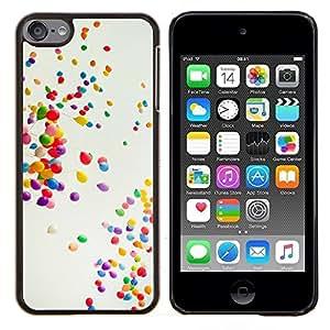 TECHCASE---Cubierta de la caja de protección para la piel dura ** Apple iPod Touch 6 6th Touch6 ** --Globos coloridos
