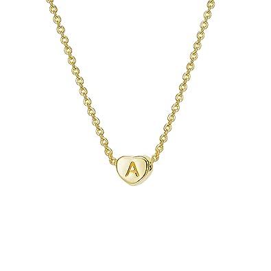 6418857569c Amazon.com  Initial Heart Necklace