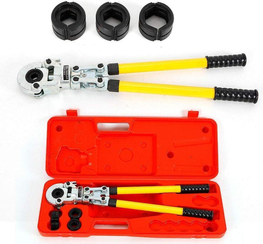 DiLiBee Pince /à sertir les tubes V-Contour V 15-18-22-28 M/âchoires /à sertir 360 /° Pince /à sertir 15mm 18mm 22mm 28mm diam/ètre de tube pour presses AC-FIX