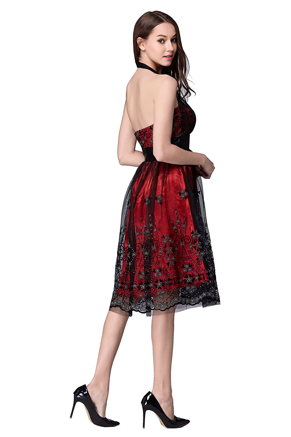 Luxy womens halter red 3d lace wedding prom dress short at amazon luxy womens halter red 3d lace wedding prom dress short at amazon womens clothing store cocktail dresses evening ombrellifo Choice Image