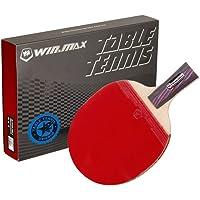 RUNACC Raqueta de Tenis de Mesa Raqueta de Ping Pong Tenis de Mesa Paddle con Mango Ergonómico,Rojo, 1Pieza