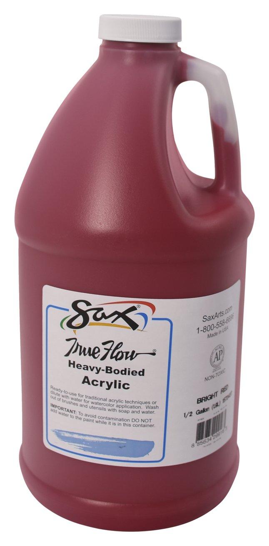 Sax - 1572437 True Flow Heavy Body Acrylic Paint, 1/2 Gallon, Bright Red